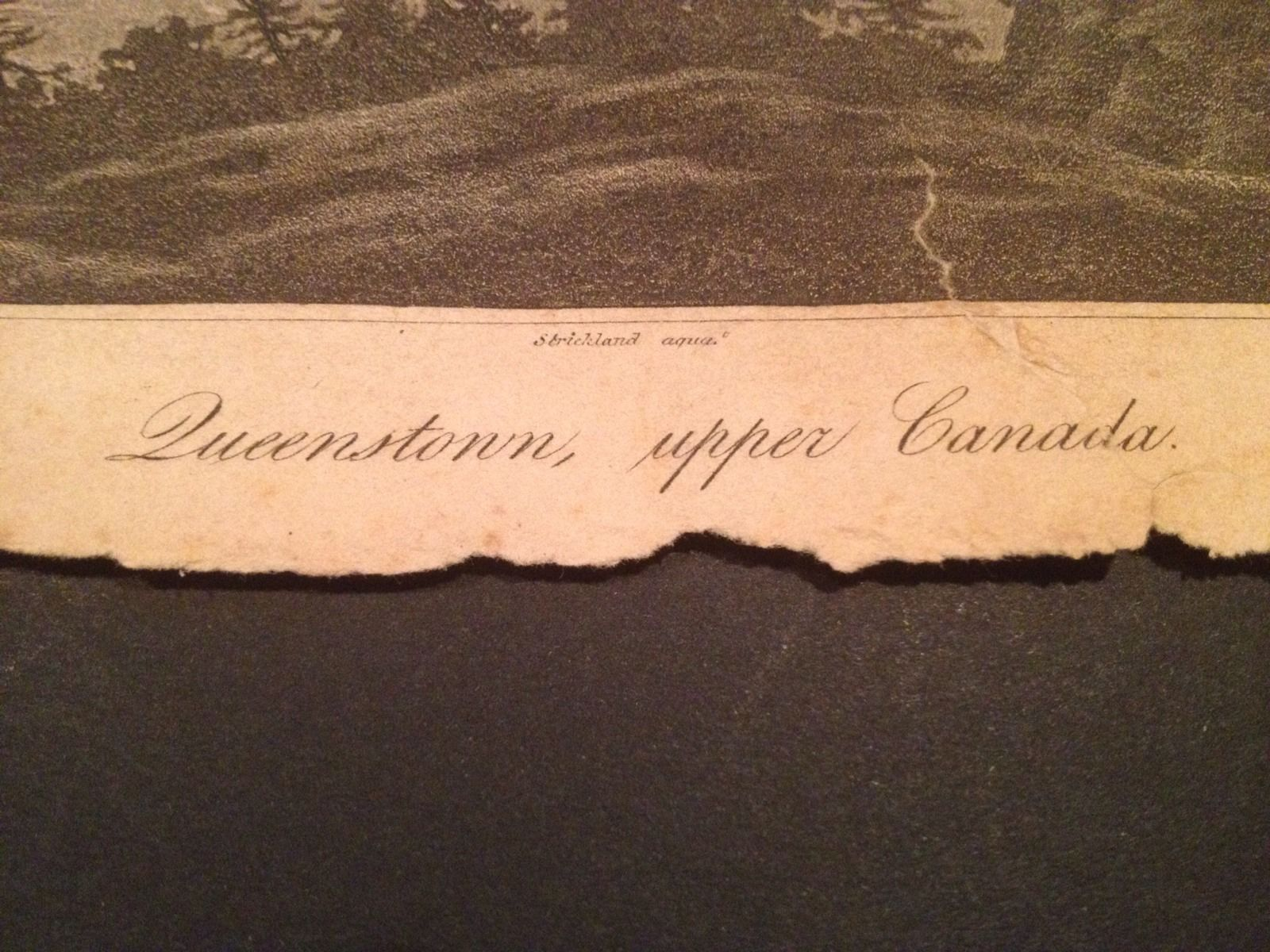 Vintage 1800's Antique Print Engraving Queenstonn Canada