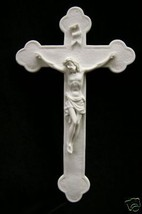 Crucifix Crucifixion of Jesus Christ Catholic Statue Wall Plate Plaque Italy - $34.95