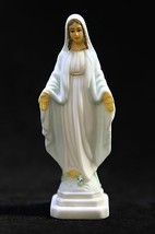 "4.25"" Our Lady of Grace Miraculous Blessed Mary Catholic Statue Made in ... - $16.95"