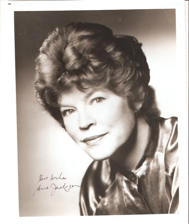 ANNE JACKSON SIGNED GLOSSY 8X10 PHOTO