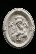 Our Lady of Perpetual Help Virgin Mary Plate Plaque Statue Vittoria Made Italy - $49.95