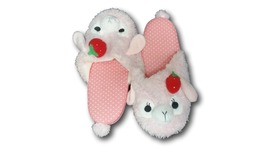 Cute Kawaii Furry Plush Cosplay Adult Pink llama Alpaca Shoes Slippers 1... - €7,90 EUR