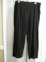 NWT LIZ CLAIBORNE NEW YORK KNIT STRETCH BLACK P... - $23.76