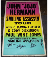 LUTHER DICKINSON SIGNED CONCERT POSTER  Smiling Assassin Tour 2003 - $88.00