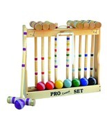 "CROQUET SET & CADDY 8 Player 32"" Amish Handmade Yard Game Family Lawn Game - $345.46"