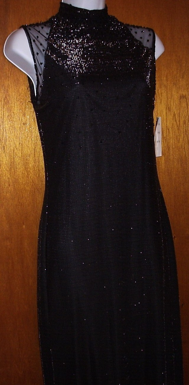 MY LADY CHARMS DESIGN BLACK   EVENING GOWN    NEW