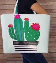 NWT Kate Spade New Horizons Cactus Little Len Island Waters Tote Bag Pur... - €245,48 EUR