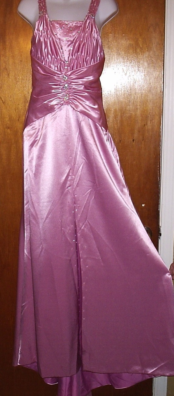VINTAGE MARY'S BRIDAL PINK SIZE 8 FORMAL  GOWN    NEW