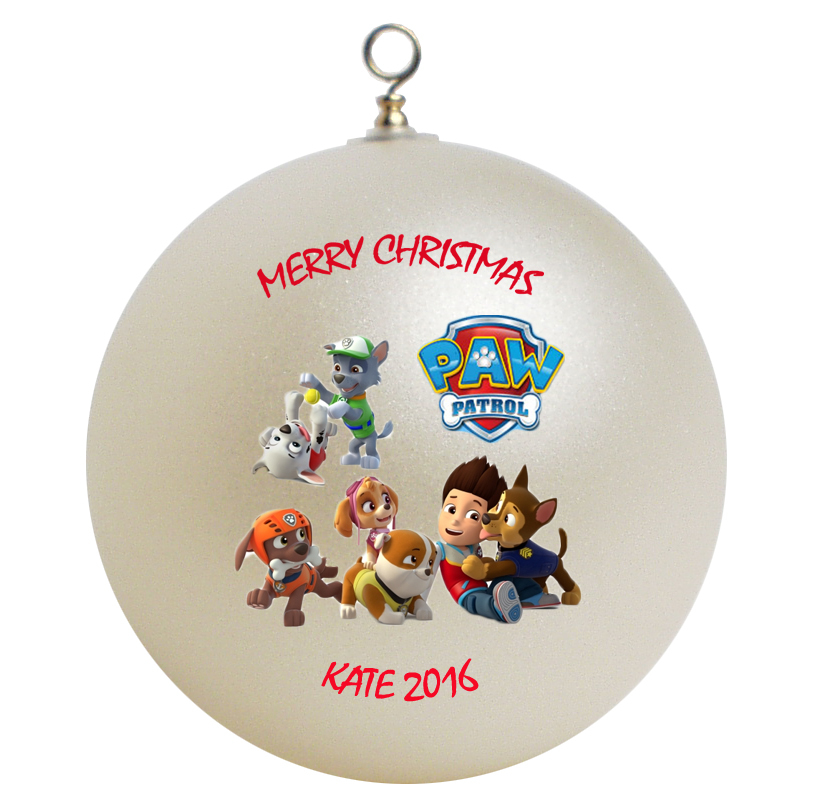 Personalized Paw Patrol Christmas Ornament Gift Ornaments