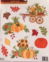 Static Window Clings New Thanksgiving Glitter Autumn Turkey Pumpkin Set 11 - $8.84