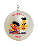 Personalized Sesame Street Bert and Ernie Christmas Ornament Gift - $24.95