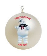 Personalized Ghostbusters Stay Puft Marshmallow Man Christmas Ornament Gift - $16.95