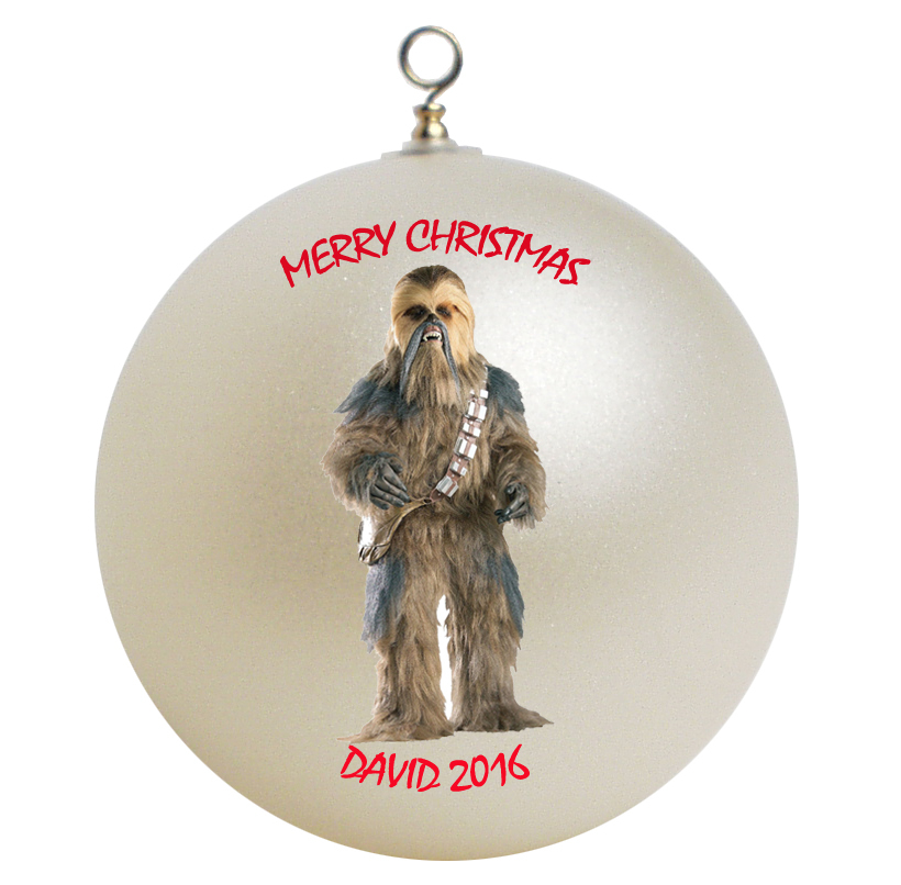 Personalized Star Wars Chewbacca Christmas Ornament Gift