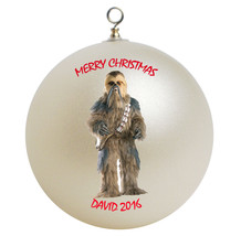 Personalized Star Wars Chewbacca Christmas Ornament Gift - $24.95
