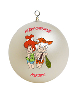 Personalized Pebbles and Bam Bam Christmas Ornament Gift - $24.95