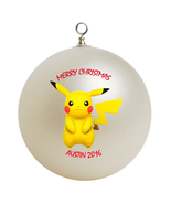 Personalized Pokemon Pikachu Christmas Ornament Gift - $16.95