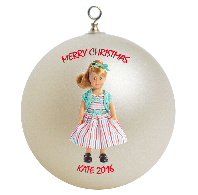 Personalized american girl maryellen christmas ornament