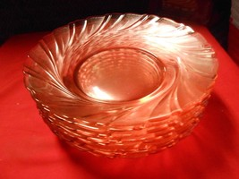 "Great set of 8 PINK ""Swirl"" Bowls..8.5"" diamete... - $19.47"