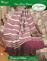 Needlecraft Shop Crochet Pattern 962320 Grape And White Afghan Collector... - $4.99