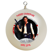 Personalized Star Wars Hans Solo Christmas Ornament Gift - $16.95