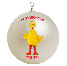 Personalized Sesame Street Big Bird Christmas Ornament Gift - $24.95