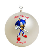 Personalized Sonic the Hedgehog Christmas Ornament Gift - $16.95