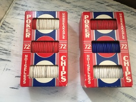 2 boxes of Vintage Noiseless Unbreakable Poker Chips - $9.98
