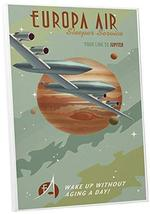 """Pingo World 0205Q6GW474 """"Steve Thomas Europa Air"""" Gallery Wrapped Canvas Art, 16 - $48.46"""
