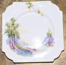 """Aynsley England  Square Landscape Scene Salad Dessert Porcelain Plate 6.5"""" Sq. - $29.99"""
