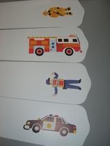 CUSTOM CEILING FAN  w/ OLIVE KIDS HEROES POLICE FIREMAN - $99.99