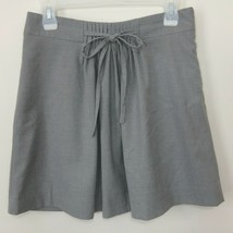 Gap Womens Skirt Size 0 Gray Stretch Fully Lined Above Knee Pleated Tie Front - $19.99