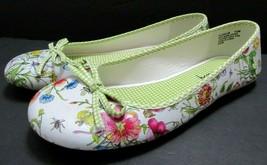 Sam & Libby Edelman Bowed Ballet Flats Floral Colorful Womens Shoes Size... - $39.59