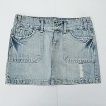 American Eagle Mini Skirt Size 0 Distressed Wash - $11.99