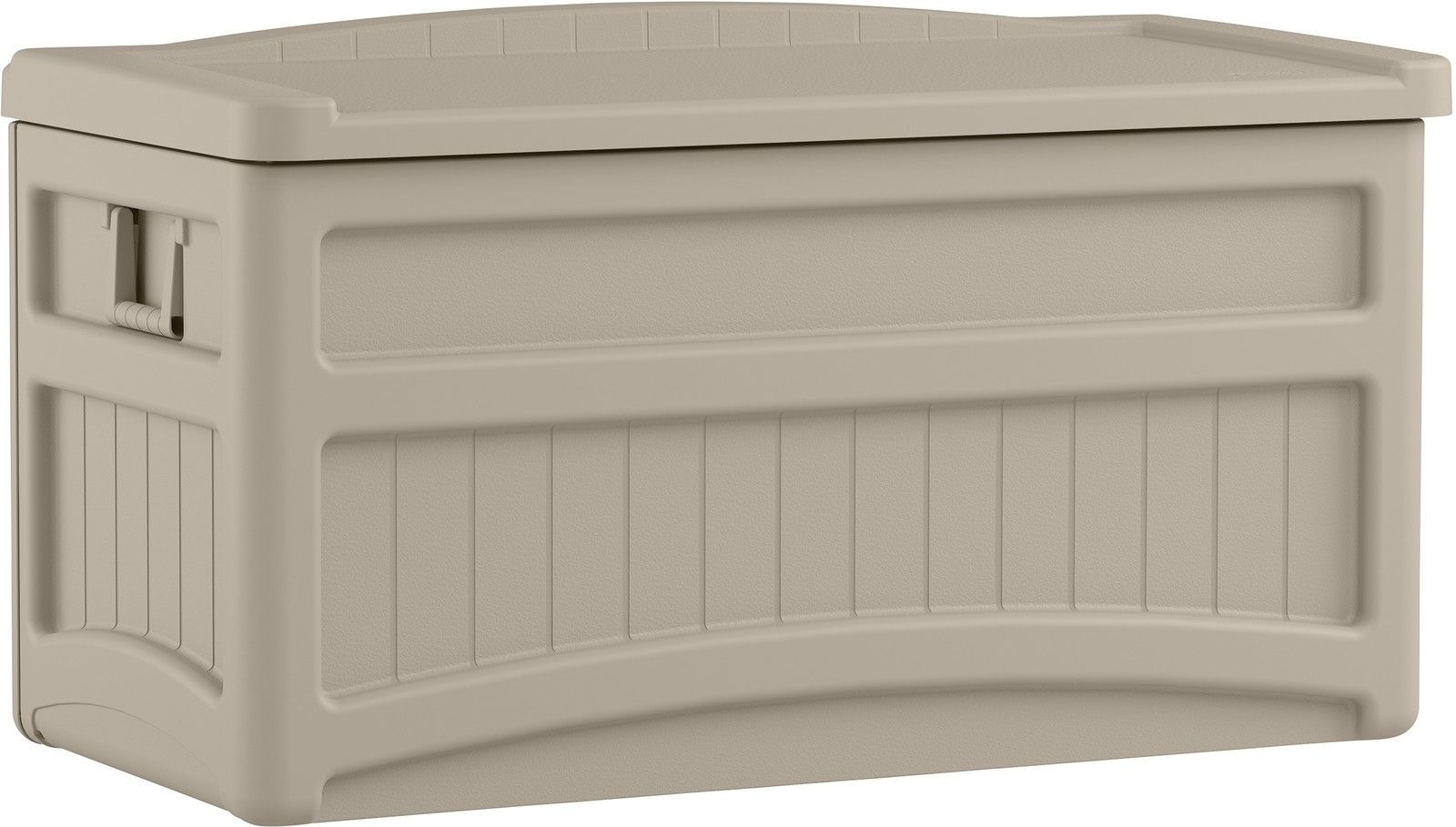 Patio Cushion Storage Bench Outdoor 73 Gallon Deck Box With Seat