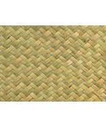 Herringbone Fine Weave Green Matting Roll Wallpaper/ Wainscoting/Ceiling... - $42.00+