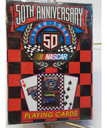 DECK UNOPENED 50TH ANNIVERSARY OF NASCAR PLAYING CARDS - $4.99