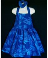 NEW Handmade SeaWorld Dolphin Toile Halter Dress Set Custom Sz 12M-14Yrs - $59.98