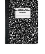 """Staples Composition Notebook, College Ruled, Black, 9-3/4"""" x 7-1/2"""" 2 Pack - $2.96"""