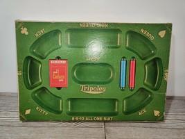 Vintage 1968 Cadaco Tripoley Board Game Special Edition No. 300 Michigan Rummy - $22.46