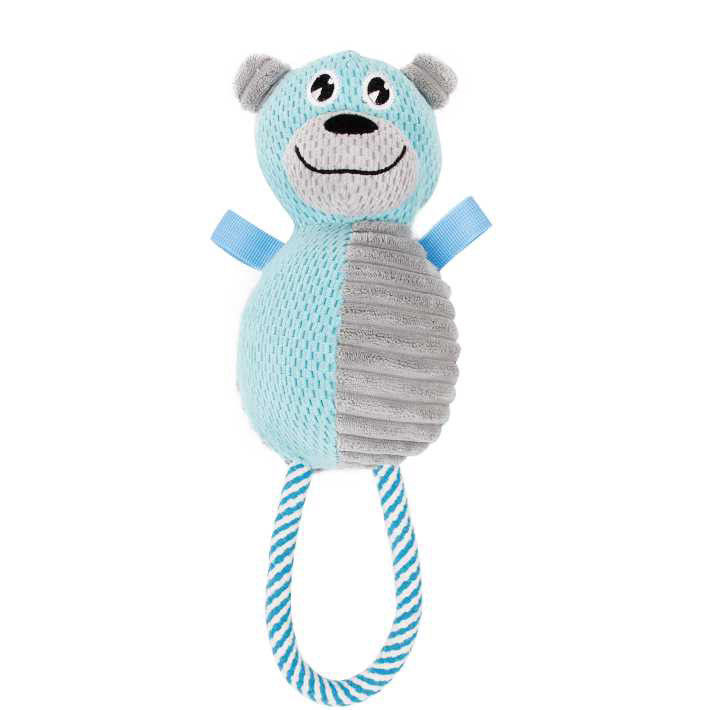 Primary image for Pet Life Plush Huggabear Natural Jute And Squeak Chew Tugging Dog Toy (DT26)
