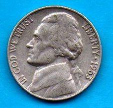 1963  Jefferson Nickel - Light Wear - About XF - $0.05