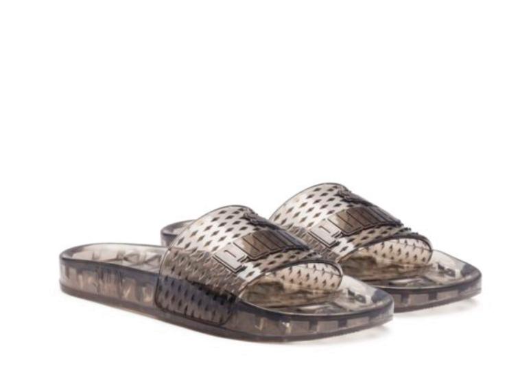 Puma Women's Fenty by Rihanna Black Jelly Slide 36577302 Sandals/Flip Flops New - $49.99