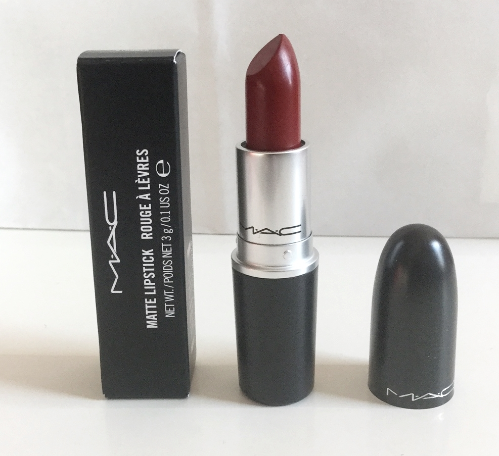 MAC Matte Lipstick STUNNER Dark Rose Burgundy Lip Makeup M ...