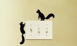 Squirrels Wandering Vinyl Decal Stickers (x2) Room Wall Light Switch Decor - $5.99