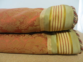 2 CROSCILL Brocade Tuscan King Pillow Shams 43 x 27 RN 21857 LN Cond - $59.39