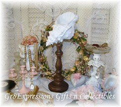 Shabby Beach Cottage Chic Conch Shell Sculpture Finial - $19.95