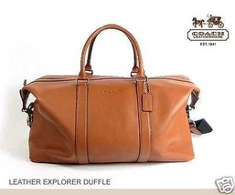 Coach Large Travel Duffle Bag Pebbled Leather E... - $411.36