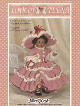 Lovely Teena, Fibre Craft Doll Clothes Crochet Pattern Booklet FCM253 Dress Hat - $5.95