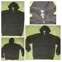 Black Zip Up Hoody Jacket Heavy weight Lined inside hoodIE Hoodie jacket... - $20.00
