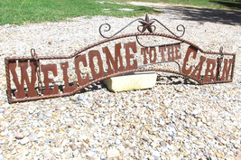 Metal Welcome to the CABIN Sign Wall Entry Gate... - $124.98
